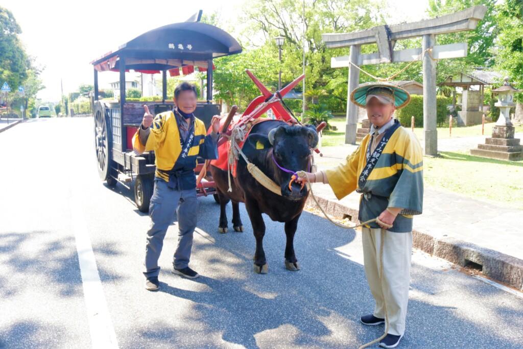 出水麓武家屋敷群の牛車